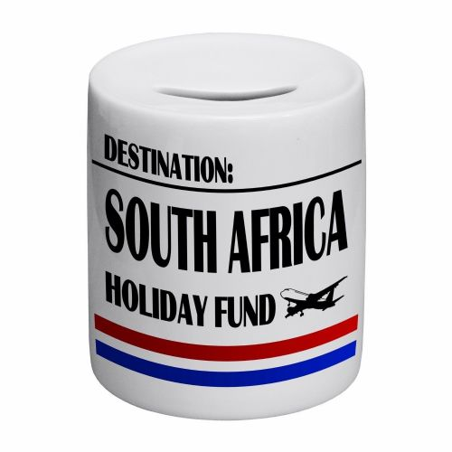 Destination South Africa Holiday Fund Novelty Ceramic Money Box